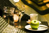 Tea and fruit in wellness Zagreb